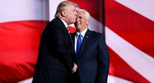 Donald Trump Attempts To Kiss Mike Pence And It's The Most Awkward Thing You'll See Today